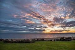Beautiful sunset sky, beach and sea Stock Photography