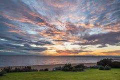 Beautiful sunset sky, beach and sea Royalty Free Stock Photo