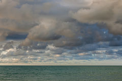 Sky and clouds before rain coming. Royalty Free Stock Photography