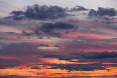Beautiful sunset sky with clouds Stock Photography