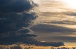 Sunset Sky and Clouds. Beautiful sunset sky with dramatic light stock photos