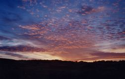End to a Perfect Day in Idaho. This beautiful sunset sky is the end to a perfect day in Idaho Royalty Free Stock Images