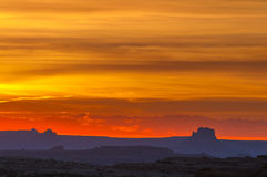 Beautiful Sunset Sky in Needles District Royalty Free Stock Photo