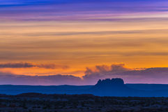 Beautiful Sunset Sky in Needles District Royalty Free Stock Photos