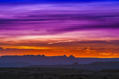 Beautiful Sunset Sky in Needles District Stock Photography
