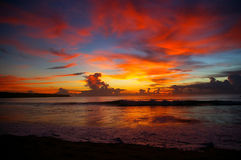 Beautiful sunset sky and ocean Stock Photo