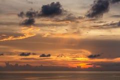 Beautiful sunset sky over the Andaman sea near Koh Kood island Stock Image