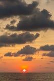 Beautiful sunset sky over the Andaman sea near Koh Kud island Stock Image