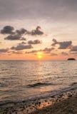 Beautiful sunset sky over the Andaman sea near Koh Kud island Royalty Free Stock Photography