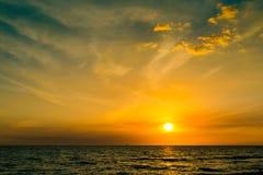 Beautiful sunset sky over the Atlantic ocean Royalty Free Stock Photos