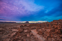 Beautiful Sunset Sky over the Goblin Valley Royalty Free Stock Photos