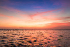 Beautiful sunset sky over the ocean, Royalty Free Stock Photos
