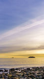 Beautiful sunset sky over the ocean West Vancouver Stock Images