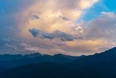 Beautiful sunset sky over Tatra Mountains Stock Photography