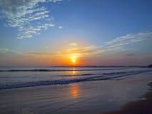 Beautiful sunset sky with reflection at Weligama, Sri lanka Stock Photos