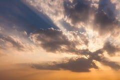Beautiful sunset sky. Stock Photography