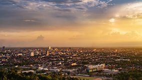 Beautiful Sunset at Songkhla Thailand. cityscape in the evening. Beautiful Sunset at Songkhla Thailand. cityscape in the evening stock photos