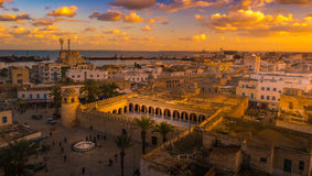 Beautiful sunset in Sousse, Tunisia. Stock Photos