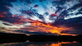 Beautiful Sunset. Stunning colorful sunset in Chisinau, Moldova Stock Photography