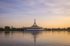 Beautiful sunset at Suan luang Rama 9 park Royalty Free Stock Photos