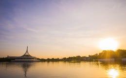 Beautiful sunset at Suan luang Rama 9 park Stock Photography