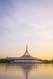 Beautiful sunset at Suan luang Rama 9 park Royalty Free Stock Photography
