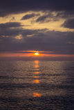 Beautiful sunset on the summer sea Royalty Free Stock Photography