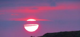 Beautiful sunset/sunrise in Iceland Royalty Free Stock Photography