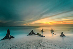 Beautiful sunset and sunrise Royalty Free Stock Photography