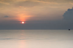 Beautiful sunset and sunrise Stock Photos