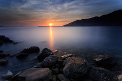 Beautiful sunset and sunrise Stock Photography