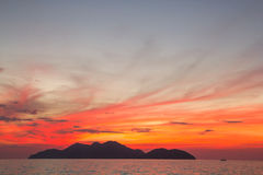 Beautiful sunset or sunrise. Over the ocean Royalty Free Stock Photo
