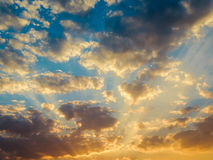 Beautiful sunset and sunrise sky Stock Photo