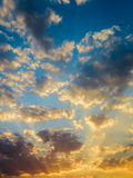 Beautiful sunset and sunrise sky Royalty Free Stock Photos