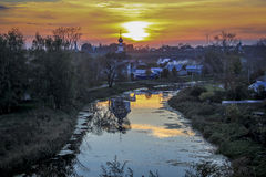 Beautiful sunset in Suzdal Royalty Free Stock Photos