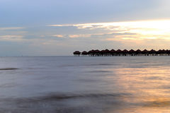 Beautiful Sunset. T Sepang Gold Coast Stock Images