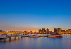 Beautiful sunset in Taipei by the river Royalty Free Stock Photo
