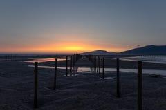 A beautiful sunset in Tarifa. royalty free stock photo