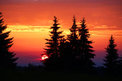 Beautiful sunset in Tatra mountains Stock Images