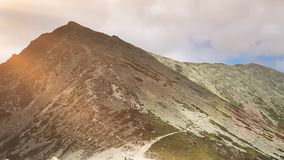 Beautiful sunset in Tatry mountains in Poland stock video