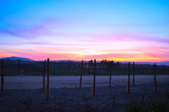Beautiful Sunset in Temecula California Stock Photography