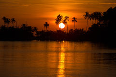 Beautiful sunset, Thailand. Stock Images