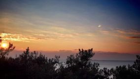 Beautiful sunset timelapse above the ocean. Beautiful sunrise timelapse above the ocean stock footage