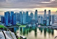 From the Top of Marina Bay Sands,Singapore royalty free stock photos
