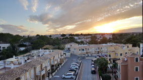 Beautiful Sunset in Torrevieja, Spain Royalty Free Stock Photos