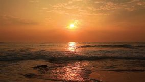 Beautiful sunset on a tropical beach. Sri Lanka stock video footage