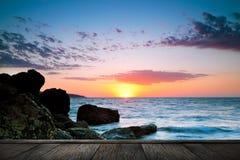 Beautiful sunset at tropical beach. Stock Image