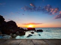 Beautiful sunset at tropical beach. Stock Photos