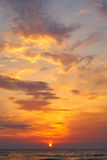 Beautiful sunset in tropical sea Stock Photography