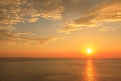 Beautiful sunset twilight at Promthep cape view point, Phuket Royalty Free Stock Images
